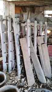 Old wooden harrows
