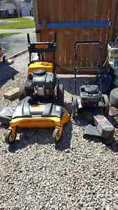 Commercial push behind lawnmower 34 inch deck and Gas push trim