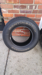 225/70/15 continental white letter tires