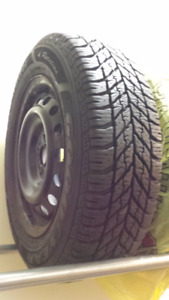 Goodyear USA, 4 Winter Tires -195/ 65 R15 with 5 hole Steel Rims