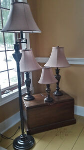 set of 4 matching lamps
