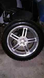 Set of Goodyear Nordic Track Winter Tires on Winter Mag Rims