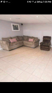 Sectional couch and lazyboy recliner