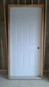 "Steel Exterior Door, size 36"" x 80"""