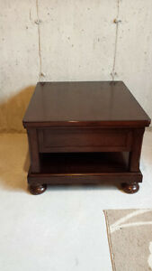 Like New Dark Oak Solid Wood Coffee and End Tables, 2 years old St. John's Newfoundland image 3