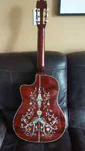 Classical Guitar with mother or pearl and abalone inlay