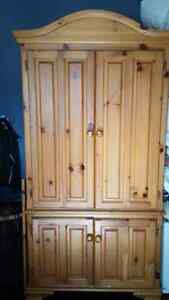Solid wood Armoire Cambridge Kitchener Area image 1