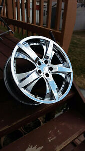 "18"" Chrome Wheels X 4  Excellent condition"