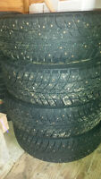 Studded Winter Tires, P175/65R14 on 4 x 100 rims