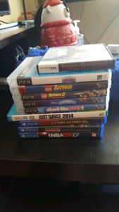 PS4, PS3, WIIU and DS games