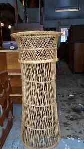 Gorgeous wicker plant stand.
