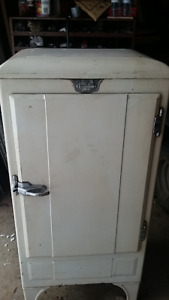 1920's GM ice box style refrigerator