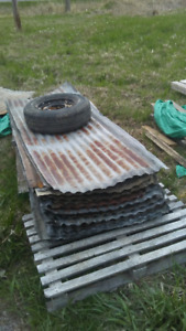 MORE ROOFING HAS ARRIVED:  GOOD USED METAL ROOFING