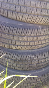 Used set of 14 inch car tires