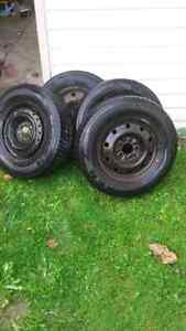 Winter tires and rims 205/70/r15