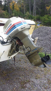 Two Evinrude 115hp Outboard Motors