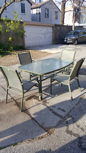 Martha Stewart Patio Furniture Table with 4 Chairs