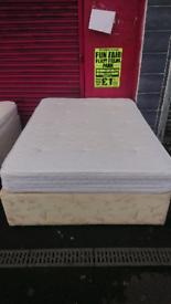 Double bed with matt