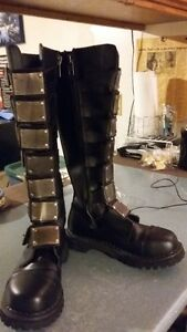 Demonia Reaper 30 Knee high Leather Buckle up boots- NEW