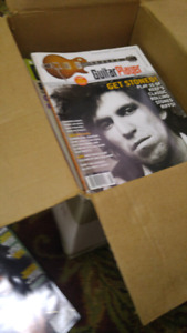 Box of Guitar Player Magazines