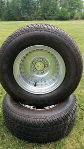 "Two 15"" Centerline Rims and Tires"