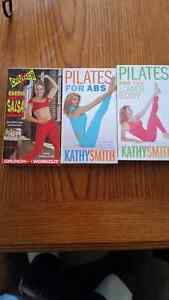 VHS VIDEO CARDIO SALSA , ABS ,LOWER BODY