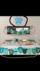 Beautiful baby shower party decorations