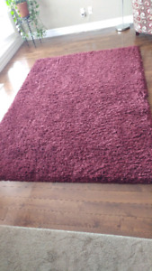 5x7 Burgundy Shag Carpet