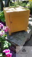Painted Yellow Commode