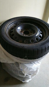 4 winter tires with rims Oakville / Halton Region Toronto (GTA) image 2
