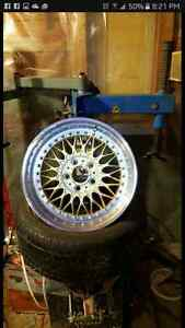 WE MOUNT AND BALANCE RIMS AND TIRES
