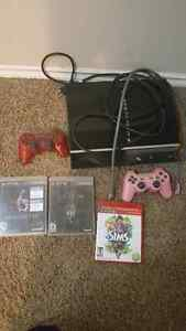 PS3 w/ 3 controllers and 5 games