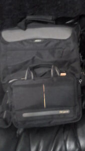 Two laptop bags. One large one small
