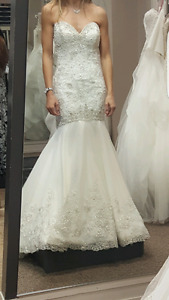 Wedding gown (ivory/silver)