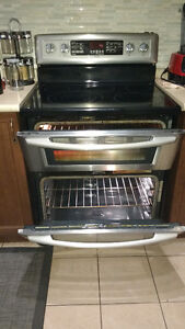 Maytag - Smooth-top Double Oven  &  LG - French Door Fridge