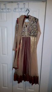 Full length Fashion Indian Dress with scarf