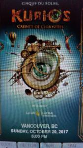 Cirque du Soleil/Kurios discounted