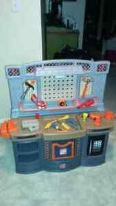 Little tikes work bench and tools