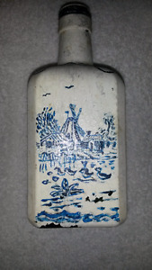 P. Bokham Holland Bottle Handpainted - No chips