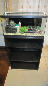 15 gal aquarium/fish tank fully equipped with stand