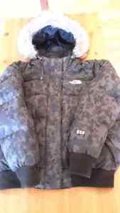 Manteau d'hiver North Face en duvet d'oie