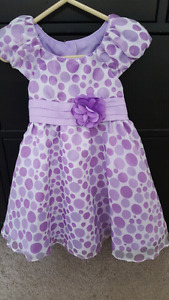 2T Like New *Easter* Dress Purple with Polka-dot