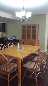 NEW PRICE!  6 Person Solid Oak Dining Table,Buffet & 6 Chairs