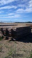 7' x 14' hardwood interlocking rig mats