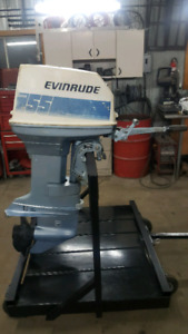 Johnson Evinrude 55hp commercial pied long rope start