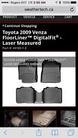 Toyota Venza Weathertech Digital Fit Mats and Cargo Limer
