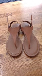 Brand new, never worn, real leather, Aldo sandals with buckle.