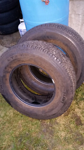 2 18 INCH TRUCK TIRES FOR SALE