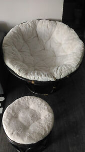 Papasan chair and stool from Pier 1 import