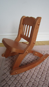 Wooden doll chair ( fits from 12'' to 18'' doll ) light brown